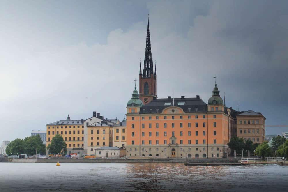 Een van de vele prachtige gebouwen in Stockholm.