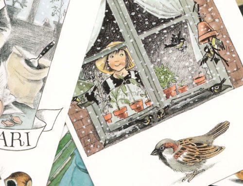 Populaire maandkaartjes met Linnea in de hoofdrol