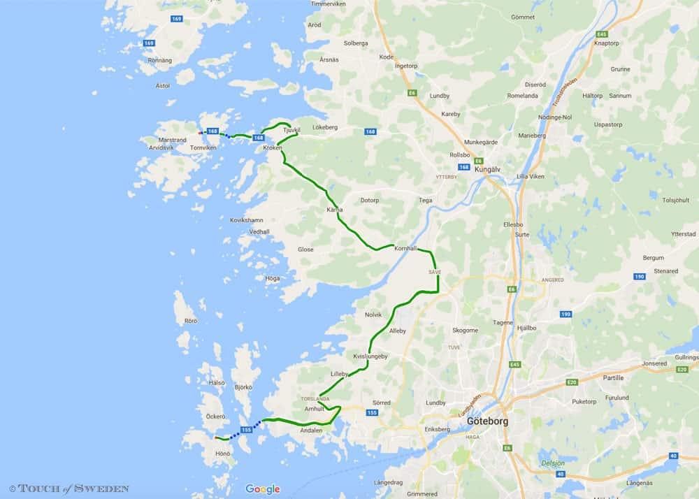 Mooie route Zweedse westkust