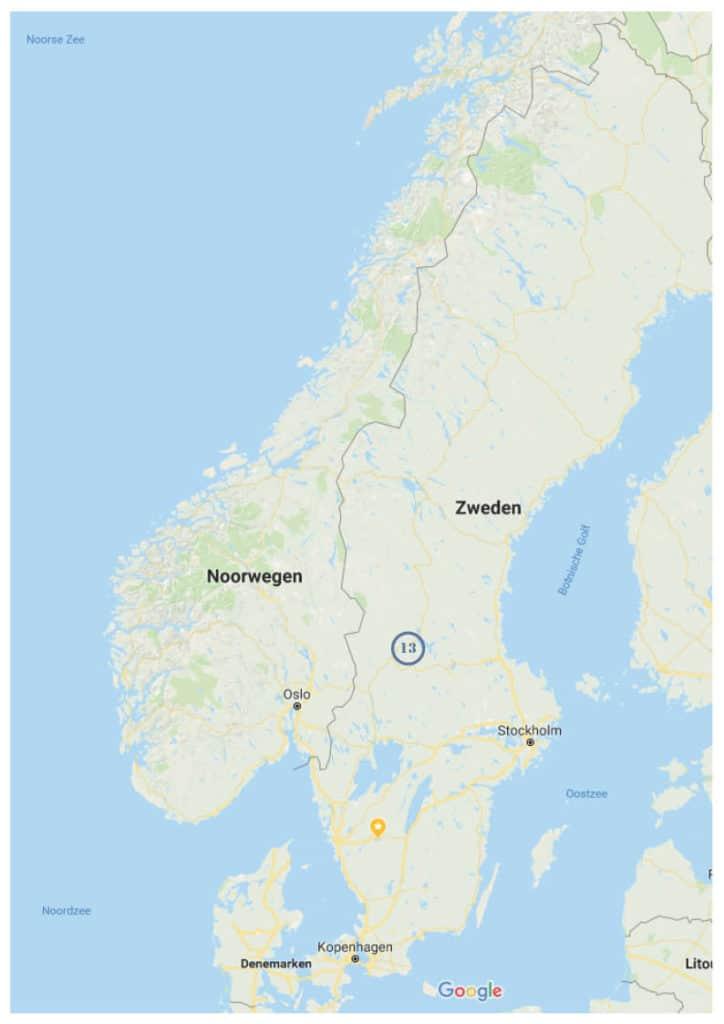 In juli midzomer vieren in Zweden